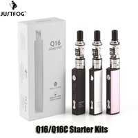Authentische Justfog Q16 / Q16C Starter Kit Verbesserte Q16 900 mAh Variable Spannung J-Easy 9 Batterie 1,9 ml Kindersichere Clearomizer