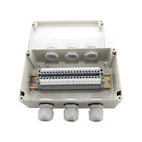 IP65 Waterproof Cable Wiring Junction Box 3 in 3 out 200*120*75mm with UK2.5B Din Rail Terminal Blocks