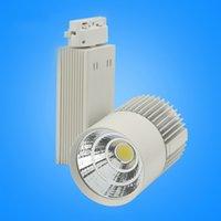 LED Lighting Rail 20W / 30W luz pano preto / branco Shell Led luz de teto Led Spotlight Projeção Lâmpada de parede Lâmpada de iluminação de pista