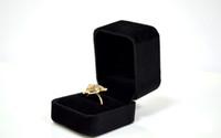 12 pezzi espositori scatole gioielli organizer per regalo anello orecchini stud caso di imballaggio velluto nero di alta qualità caixa de presente