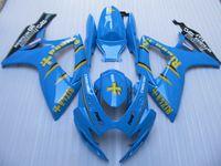 スズキGSXR600 750 2006 2007 GSXR 600 GSXR750 K6 06 07 GSXR 600 GSXR 750 Rizla Blue Fairings BodyWork
