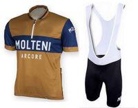 Molteni Arcore 레트로 망 Ropa Ciclismo 사이클링 의류 / MTB 자전거 의류 / 자전거 의류 / 2021 사이클링 균일 한 사이클링 유니폼 2XS-6XL P5