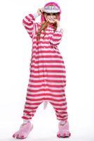 Последние взрослые полосатые пижамы милые женщины мультфильм кусок пижамы розовый спортивный костюм Чеширский кот косплей кусок пижамы