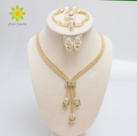 New Arrival Fashion Gold Plated Beads Collar Necklace Earrin...