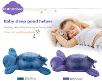 Çocuk bebek uyku gece lambası 5 adet bir çanta, yaratıcı ruhu lamba deniz, okyanus Yıldız Projektör lambası, dalgaların hız sesi