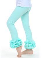 UPS FedEx Liberi la nave 2015 nuove neonate di cotone ruffles leggings pantaloni per bambini bambini bambini bambini ragazze ragazze leggings con arruffati 2-6y