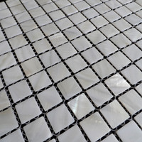 [FREE SHIPPING] White color mother of pearl shell mosaic , 20x20mm for floor/wall used, fresh water shell tile #MS090