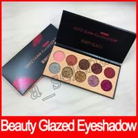 Sıcak satış Güzellik Sırlı Glitz Glam Göz Farı paleti Seti 5 Glitter 5 Mat Göz farı DHL Ücretsiz Nakliye