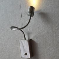 Topoch Kısılabilir Duvar Lambaları Dahili Sürücü Açık / Kapalı Düğme Anahtarı Karartma 15% -100% Alümimum Hortum Esnek CREE LED 3W 200LM Krom Bitirmek