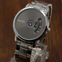Plattenspieler Dial PAIDU Net Mesh Stahlband Handgelenk Mode Uhr Männer Frauen Geschenk
