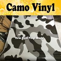 Arctic Camo Vinyl Wrap Snow Camuflaje Vinilo película Burbuja gratis para envoltura de automóviles Tamaño: 1.50 * 30 m / Rollo