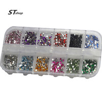 Wholesale- 1case 3d Nail Art Rhinestone 12 Color Round Studs...