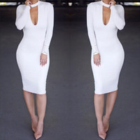 Sexy Club Dress New Arrivals Long Sleeve White Autumn Winter...