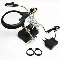 Freeshipping Vergrößerungsglaslampenlampe 10mal Tabellenmodell mit Licht für Schweißen und Reparatur
