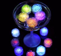 Rose flower Flash Ice Cube LED Color Luminous in Water night...