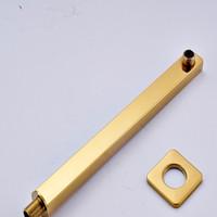 2016 Luxury New Shape Brass Golden Rain Shower Arm /holder Shower Accessories Wall Mounted