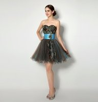 2015 Sexy Black Cocktail Dresses Vestidos de Festa Sweetheart Party Gowns Actural Picture 100% In Stock Size 4 to 16 Homecoming Dresses
