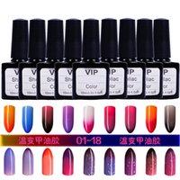 Gros-36 Couleurs choix! UVLED Soak Off Gel ongles changement de température polonais Couleurs 10ml Gel Nails Lacquer # HT-TC36