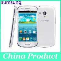 Oridinal 4.0 '' Samsung Galaxy S3 mini i8190 Reacondicionado 480 x 800 GSM 3G de doble núcleo para teléfono móvil WIFI GPS 8GB Teléfono inteligente 002868