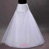 Spedizione gratuita semplice bianco a line sottoveste crinolina sottoveste scivola sottogonna per abiti da sposa in magazzino CPA202