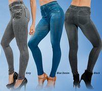 Kvinnor Jeggings Fleece Inside Winter Leggings Genie Slim Jeggings 3 Färger Kvinnor Jeggings för Kvinnor Mode Leggings Två Real Fickor