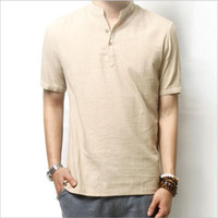 Wholesale White Collarless Shirt Men - Buy Cheap White Collarless ...