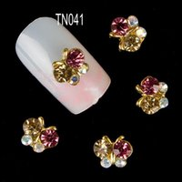 New 2014 women 3D Butterfly Nail Art Tools Stones Crystal Rh...