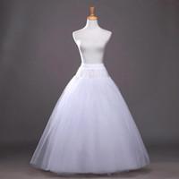 Жаркое Лето Линия Белая Свадьба Юнита Поддержка Свадебные скольжения для свадебных платьев Bridal Petticats Бесплатная Доставка