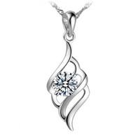 925 серебряные изделия Кристалл ювелирные изделия кулон заявление ожерелья свадебные старинные двойной шелк бесконечности новое прибытие подвески