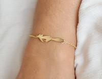 10шт-B040 серебро золото милый лес работает Фокс браслет простой животных Фокс браслеты крошечные Фокс хвост браслеты для подарков