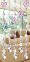 Livraison gratuite 10 mètres papillon et le 32 section acrylique perlent partition rideau entranceway centres de mariage de décoration intérieure