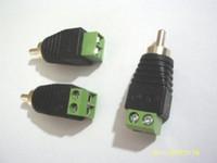 1000pcs DC Power au connecteur mâle RCA pour les caméras de vidéosurveillance