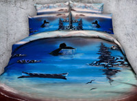 3D Ocean Boat Fish Bedding Sets Twin Full Queen King Cal Kin...