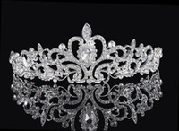 Shining Beaded Crystals Wedding Crowns 2016 Bridal Crystal V...
