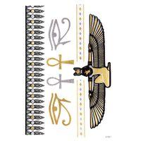 Pegatinas para tatuajes temporales Metallic Gold Foil Tattoo Flash tatuajes 10 pcs Oro Plata Tatuaje temporal a prueba de agua