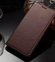 Di alta qualità per Sony Z5 Plus caso della copertura del raccoglitore di lusso di vibrazione ultra sottile sottile custodia in vera pelle per Sony Xperia Z5 Premium / Z5 Plus