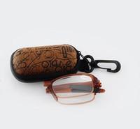 (10 pedazos / porción) gafas de lectura de la manera vidrios de lectura plegables plásticos 5277 van con los casos