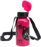 POISSONS doux Haute Qualité Zoo bébé tasses Tritan enfants dessin animé bouteille d'eau Bouteilles de sport bouteille de paille, Livraison gratuite