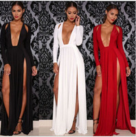 High Split Women Dress Evening Party Elegant Long Dress Sexy...