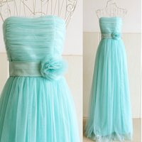 Promotion light Green Bridesmaid Dress bride sisters perform...