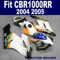 Molde de inyección personalizar carenados de motocicleta para HONDA CBR1000RR 2004 2005 CBR 1000 RR 04 05 negro azul blanco kit de carenado KA41