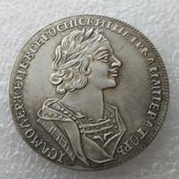 Yüksek Kaliteli toptan 1725 rus paraları 1 Rublesi kopya 100% bakır üretim kopya para Fabrika Fiyat güzel ev Aksesuarları Gümüş Paraları