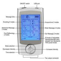 16 وسائط الرعاية الصحية هيئة مدلك آلة مزدوجة عشرات الرقمية العلاج الكهربائي الوخز بالإبر massageador مشجعا الجهاز