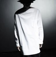 Toptan-Moda Erkek Gömlek Casual Beyaz Vintage erkek Elbise Gömlek Gotik Giyim Erkekler Elbise Gömlek Tasarımcı Yatay Yaka Gömlek