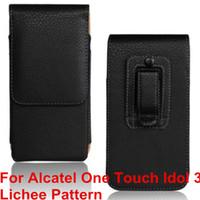 """Высокое качество PU кожаный чехол для мобильного телефона Зажим для ремня Чехол Чехол для Alcatel One Touch Idol 3 4.7 """"6039 6039A 6039K 6039Y"""