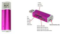 USB 2.0 SD 카드 리더기 일체형 마이크로 SD / TF M2 용 멀티 메모리 카드 리더기 MMC SDHC MS 무료 배송