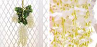 1.6 متر طويلة أنيقة الحرير الاصطناعي زهرة الوستارية فاين الروطان ل المركزية الزفاف ديكورات باقة جارلاند الرئيسية 2 الأحجام