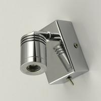 TOPOCH-KOSTENTABTEILEN LESEN Wandlampe minimalistisch drehen Neigung Kopf Fokussierlinse Edelstahl Base Chrom Finish LED 3Watts