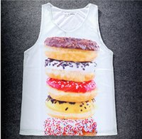 62 model 3 D fashion vest Hamburg watermelon French fries  S...