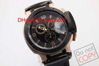 뜨거운 판매 한정판 쿼츠 골든 케이스 크로노 그래프 시계 남자 옐로우 T- 경주 시계 Portatil 시계 고무 밴드 스트랩 Couturier 1853